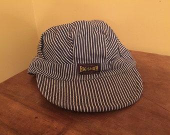 Vintage Big Smith Hat/Union Made Sanfordized Hat/Vintage Engineer Hat/Vintage Train Conductor Hat/Children's Train Hat