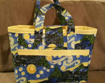 Tote made with A Starry Night fabric