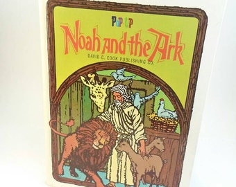 Vintage Noah and the Ark pop-up book