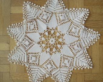 Crochet star doily lace