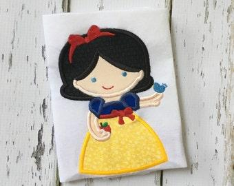 Cute Princess as Snow White Applique Shirt