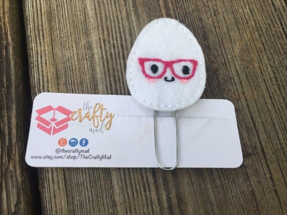Nerdy Egg Planner Clip/Planner Clip/Bookmark. Easter planner clip