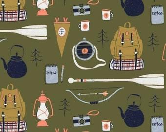 Crib Sheet or Changing Pad Cover | Baby Boy Bedding | Camping Crib Sheet | Green Navy Crib Bedding | Woodland Nursery | Standard or Mini
