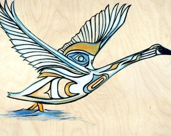 Trumpeter Swan Original Painting
