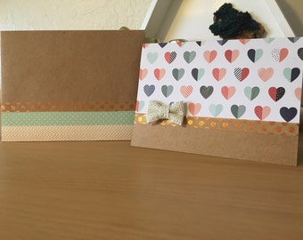 Handcrafted 'Heart' Greeting Card