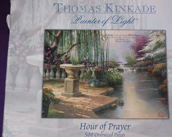 Thomas Kinkade Puzzle Hour of Prayer Unopened 500 Oversized Pieces The Painter of Light Jigsaw Puzzle G
