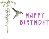 Anna's Hummingbird Happy Birthday Card