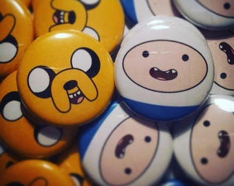 25mm Jake and Finn Adventure Time Badge