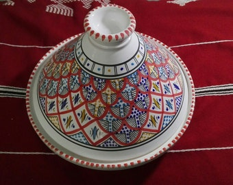 Big tajine, blue dish , ceramic dish, ceramic plate