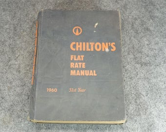 Chiltons Flat Rate And Parts Manual 1960