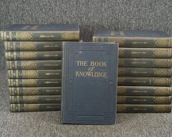 Vintage Book Of Knowledge 18 Of 20 Volumes