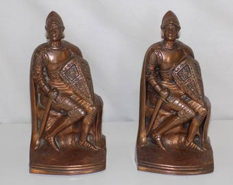 Retro KO Kronheim & Oldenbusch Knight Crusader Bookends
