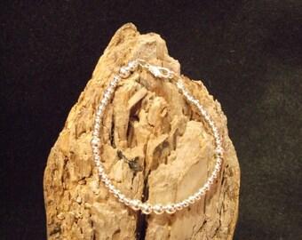 Petite Sterling Silver Beaded Bracelet