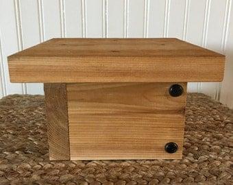 Post base for cedar bird feeder