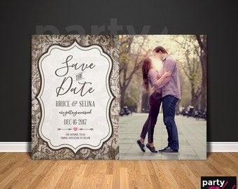 Vintage Save The Date, Rustic Save The Date, Save the Date Printable, Photo Save The Date, Save The Date Postcard, STD58