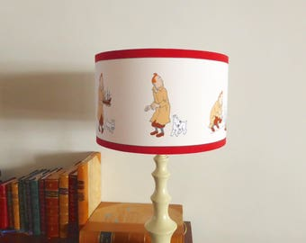 Large Tintin Table Lamp Shade | Tintin and the Secret of the Unicorn | 38cms x 23cms | Abat-jour Tintin et Milou