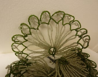 Vintage French Beaded Leaves