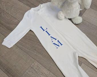 Personalized baby pajamas, custom pajamas, custom baby pajamas, personalized baby sleepers, custom baby sleepers, pajamas, PJs