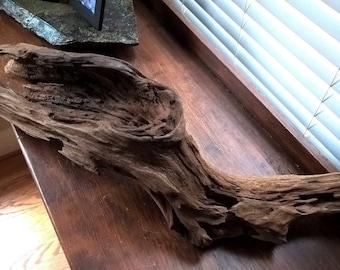 Hardwood Root Curving Hollow Shape. Terrarium Planted Aquarium Decoration 804