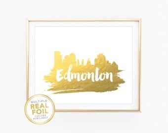 Edmonton skyline Etsy