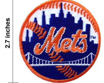 New York Mets Logo Embroidered Iron On Patch.