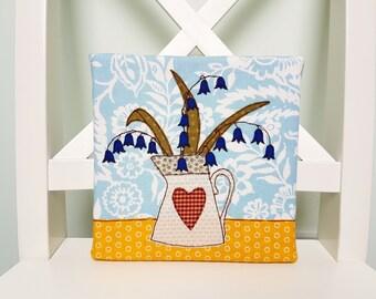 Handmade Vase of Bluebells Picture
