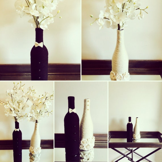 Bride And Groom Wine Bottles