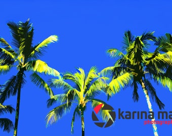 SALE Palm Trees Print, Beach, Lifestyle, Landscape, Beautiful, Travel Pop Art, Print, Wall Art, Ocean