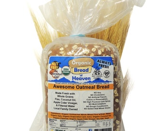 Organic Oatmeal Bread - Sliced
