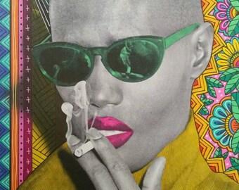 Grace Jones Sunglasses Print