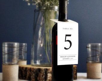Custom Wine Bottle Table Number Tags