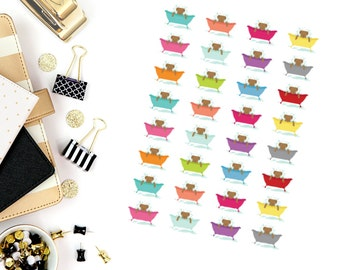 Dog Bath Stickers! Dog Stickers! Perfect for your Erin Condren Life Planner, calendar, Paper Plum, Filofax!