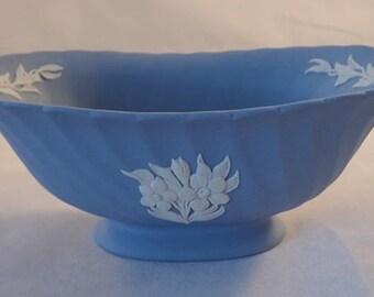 """Small Wedgwood Jasperware Fluted Mantle Vase – 3"""" Tall"""
