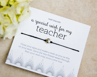 Special Teacher Wish Bracelet, music math art teacher appreciation gifts, best Bulk Teacher Gifts, thank a teacher day, Fun principal gift