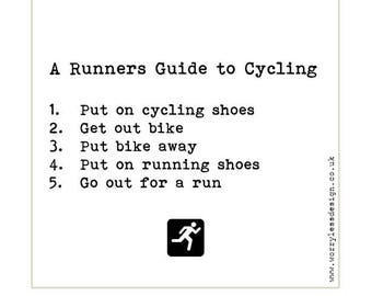 Runners Card - A Runners guide to Cycling