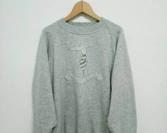 Vintage Trussardi Sweatshirt/Trussardi Sweater/Trussardi Crewneck/Trussardi Big Logo