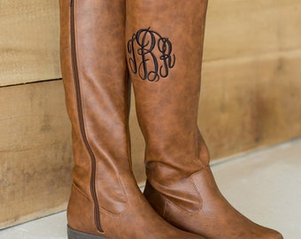 Monogram Black or Brown tall Boots