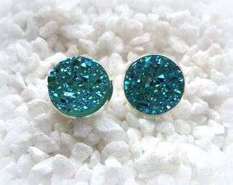 Earrings Druzy Stud Earrings