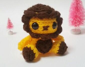 Crochet Mini Lion Plush Amigurumi Toy