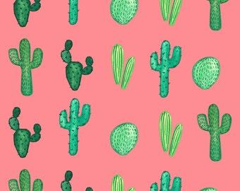 Gift Wrap Sheet- Pink Cacti