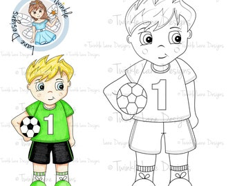 Football, Boy Digi Stamp, For Him, Sports, Sports Digi Stamp, Colouring Page, Gameday, Digital Stamp, Papercrafting, Football Clipart, Craft
