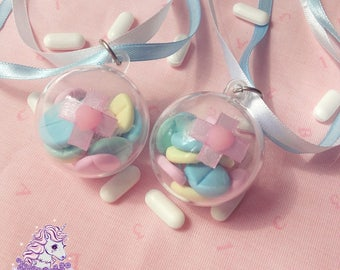 Take your meds capsule necklace menhera yumekawaii pills