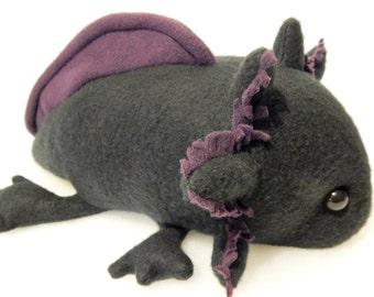 Melanoid  Axolotl Plush