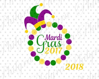 Mardi Gras 2017, Mardi Gras Svg, Svg, Digital Cutting File,DXF
