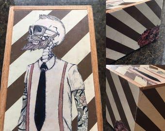 Hipster Skeleton Keepsake Box