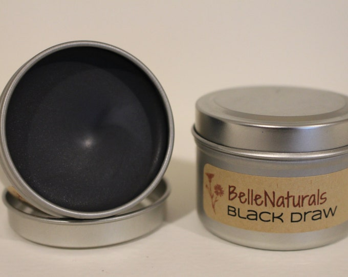 Featured listing image: Black Drawing Salve - all natural solution for insect bites and splinters. Activated Charcoal, Lavender, Plantain, Comfrey