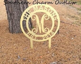 Custom Monogram Yard Stake - Monogram Yard Decor - Monogram Yard Sign - Monogram Yard Stake - Custom Yard Sign - Custom Yard Decor - Wedding