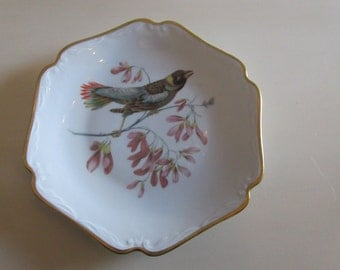 GERMANY MITTERTEICH BAVARIA Plate with Hand Painted Bird