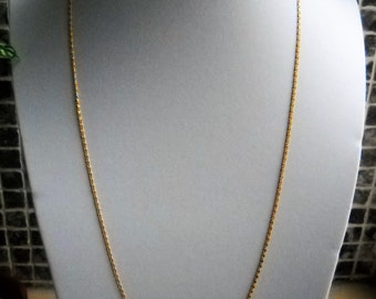 Early 80's Chain Necklace. A Soldered Gold Plated Brass S Curb Chain - round  69cm/ 27in