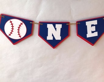 Baseball High Chair Banner - baseball party - party supplies